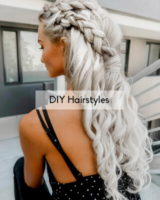 Blog articles about DIY hairstyles and hair tutorials